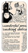 Washing Delicate Blouses Vintage Soap Ad  IPhone Case