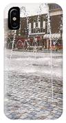 Wakefield City Centre Fountain IPhone Case
