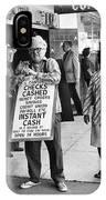Walking Billboard Nevada Club Reno Nevada 1977 IPhone Case