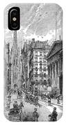 Wall Street, 1889 - To License For Professional Use Visit Granger.com IPhone Case