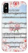 Waltz Of The Flowers Pink Roses IPhone Case