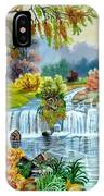 Waterfall After Monsoon IPhone Case