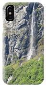 Waterfall In Geiranger Norway IPhone Case
