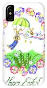 Welcome Spring. Rabbit And Flowers IPhone Case