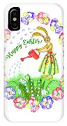 Welcome Spring.rabbit And Flowers IPhone Case