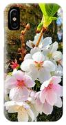 White Apple Blossom In Spring IPhone Case