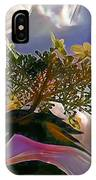 White Flower On Blue Sky IPhone Case