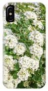 White Spiraea Flower IPhone Case