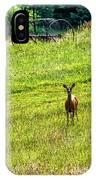 Whitetail Deer And Hay Rake IPhone Case