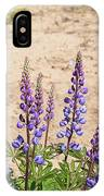 Wild Lupine Flowers IPhone Case