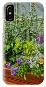 Window Box Blooms IPhone Case