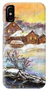 Winter Evening. IPhone Case