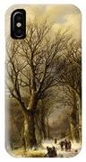 Winter Scene In Reichswald IPhone Case