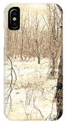Winter Scene, Montgomery County, Pennsylvania IPhone Case