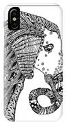 Wise Elephant IPhone Case by Barbara McConoughey