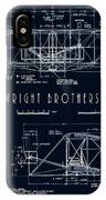 Wright Bros Flyer Aeroplane Blueprint  1903 IPhone Case