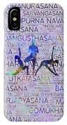 Yoga Asanas / Poses Sanskrit Word Art  IPhone Case