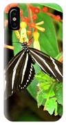 Zebra Longwing On Firebush  IPhone Case
