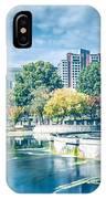 Charlotte North Carolina Cityscape During Autumn Season IPhone Case