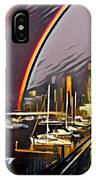 Docklands Double Rainbow IPhone Case