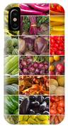 Fruit And Vegetable Collage IPhone Case