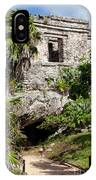 Mayan Temples At Tulum, Mexico IPhone Case