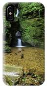 Beautiful Flowing Waterfall With Magical Fairytale Feel In Lush  IPhone Case
