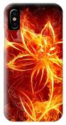 112775 Flowers Fire IPhone Case