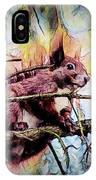 11452 Red Squirrel Sketch Square IPhone Case