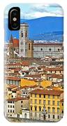 1167 Florence Italy Panorama IPhone Case