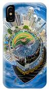 Bbt Baseball Charlotte Nc Knights Baseball Stadium And City Skyl IPhone Case
