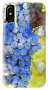 Red Grapes On The Vine IPhone Case
