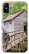 1267 Great Smoky Mountain Cable Mill IPhone Case