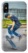 skate park day, Skateboarder Boy In Skate Park, Scooter Boy, In, Skate Park IPhone Case