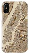New York City Street Map IPhone Case