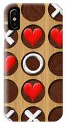 Tic Tac Toe Wooden Board Generated Seamless Texture IPhone Case