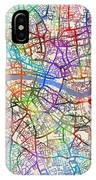 London England Street Map IPhone Case