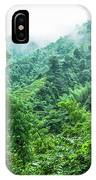 Mountain Scenery In Mist IPhone Case