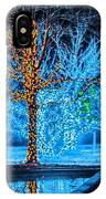 Christmas Season Decorations And Lights At Gardens IPhone Case