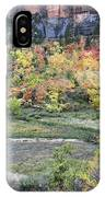Zion National Park In Autumn IPhone Case