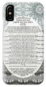 Sukkot-ushpizin Prayer- The Hosts... IPhone Case