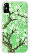 White Tree In Blossom, Painting IPhone Case