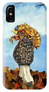 17 Year Cicada With Morel IPhone Case