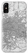 1800s London Map Black And White London England IPhone Case
