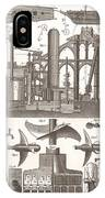 1850 Construction Of Steam Ship IPhone Case