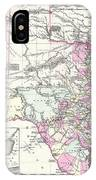 1855 Texas Map IPhone Case