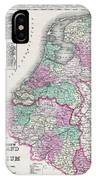 1866 Johnson Map Of Holland And Belgium IPhone Case