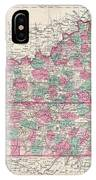 1866 Johnson Map Of Kentucky And Tennessee  IPhone Case