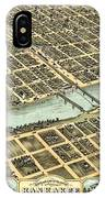 1869 Map Of Kankakee IPhone Case
