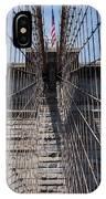 1875 Brooklyn Bridge Tower Color  IPhone Case